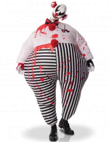 Déguisement adulte Clown de l'enfer gonfable