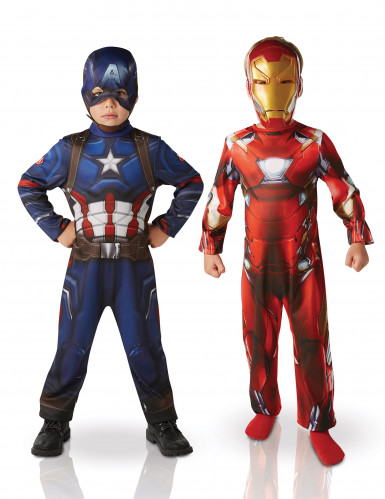 Pack déguisements Iron Man™ & Captain America™ enfant - Civil War™