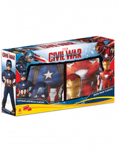 Pack déguisements Iron Man™ & Captain America™ enfant - Civil War™-1