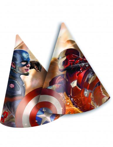 6 Chapeaux de fête Avengers Civil War™