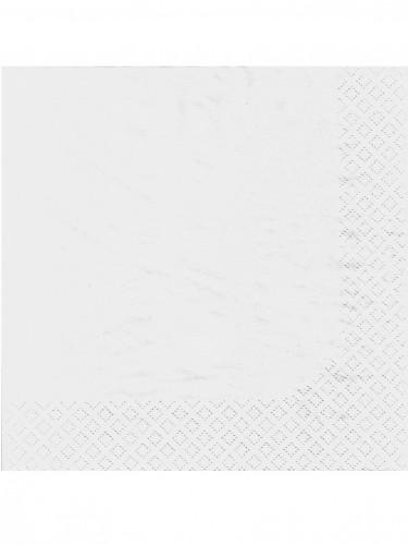 100 Serviettes blanches 38 x 38 cm