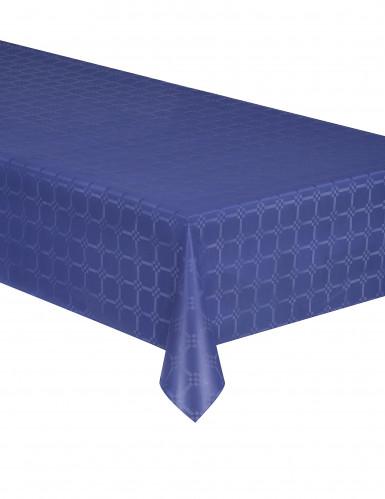 Nappe en rouleau papier damassé bleu marine