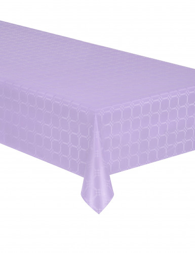 Nappe en rouleau papier damassé lilas 6 mètres