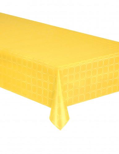 Nappe en rouleau papier damassé jaune 6 mètres