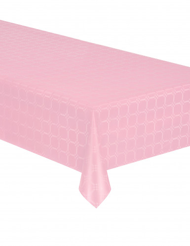 Nappe en rouleau papier damassé rose pastel