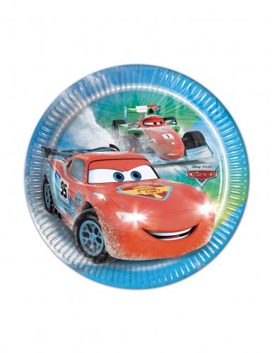 8 Petites assiettes en carton Cars Ice Racers™ 19.5 cm
