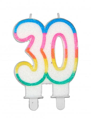 Bougie d'anniversaire chiffre 30