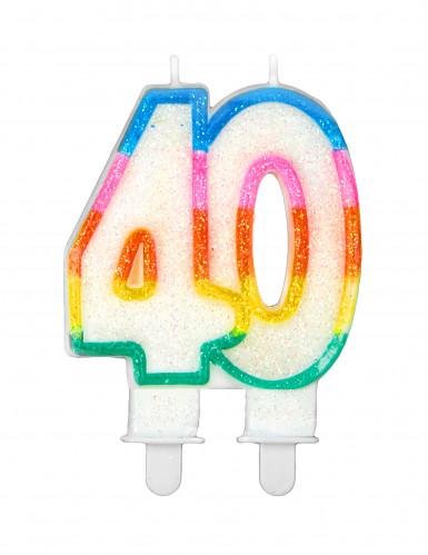 Bougie d'anniversaire chiffre 40
