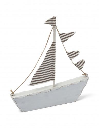 Décoration bateau en bois taupe Marin 18 x 20 cm