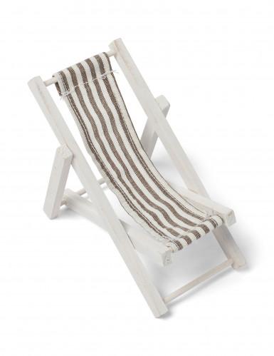 Décoration chaise longue taupe 13 x 6,5 cm