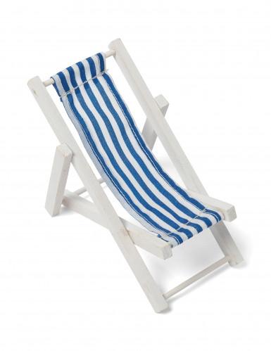 Décoration chaise longue en bois bleue 13 x 6,5 cm