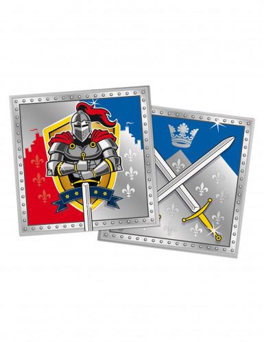 20 Serviettes en papier Chevaliers 33 x 33 cm