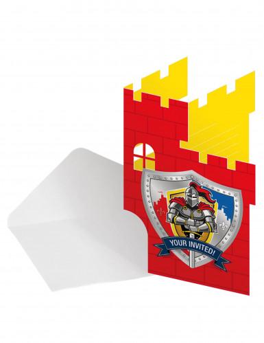 8 Cartes d'invitation avec enveloppes Chevaliers