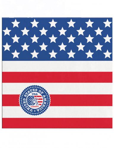 20 Petites serviettes en papier USA