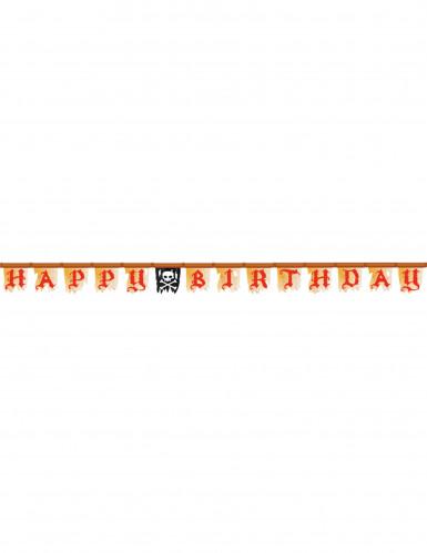 Guirlande Pirate Happy birthday - 2,4 mètres-1