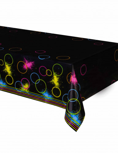 Nappe en plastique Fluo Party 140 x 260 cm