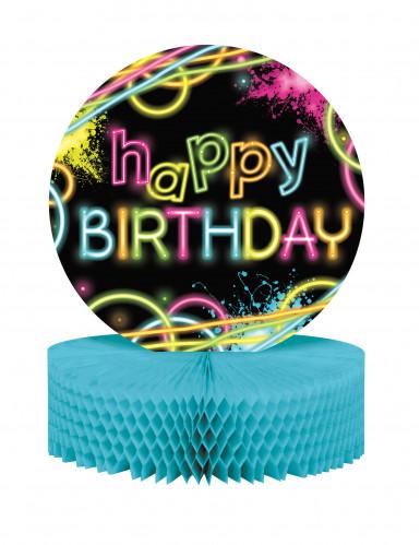 Centre de table Happy birthday Fluo Party