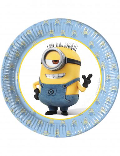 8 Petites assiettes en carton lovely Minions™ 19 cm