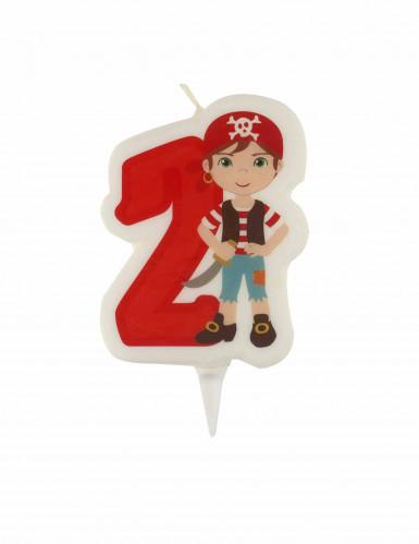 Bougie d'anniversaire pirate chiffre 2