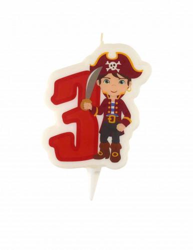 Bougie d'anniversaire Pirate chiffre 3