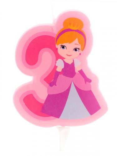 Bougie d'anniversaire princesse chiffre 3