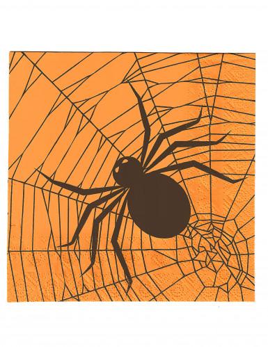 20 Serviettes en papier araignées Halloween