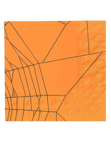 20 Serviettes en papier araignées Halloween-1