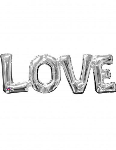 Ballon aluminium Love argent 63 cm