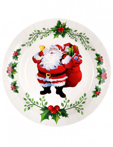 10 Assiettes  en carton Joyeux Noël 22.5 cm