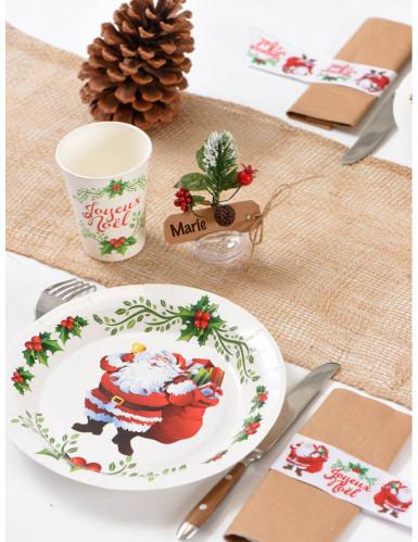 10 Assiettes  en carton Joyeux Noël 22.5 cm-1