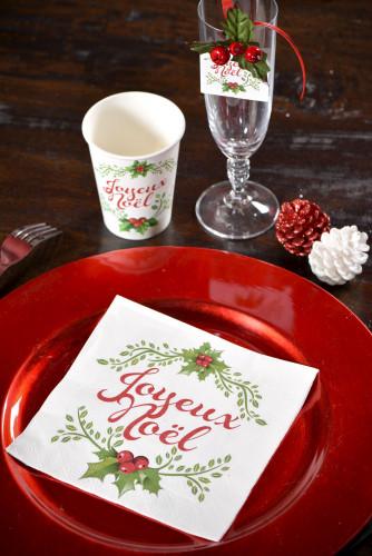 20 Serviettes en papier Joyeux Noël-2