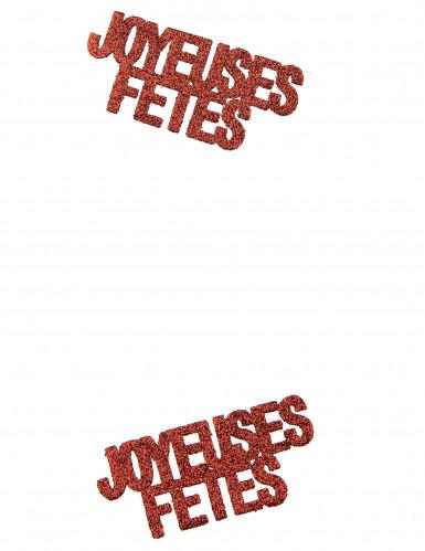 6 Confettis Joyeuses fêtes rouge-1