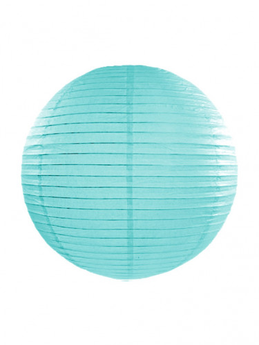 Lanterne japonaise bleu turquoise 35 cm