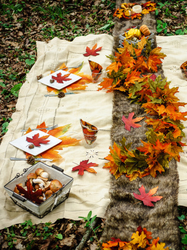 Grande feuille d'automne 35 cm-1
