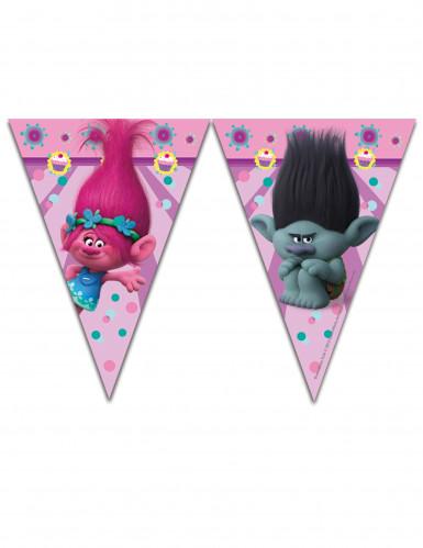 Guirlande 9 fanions Trolls™ 2.3 mètres