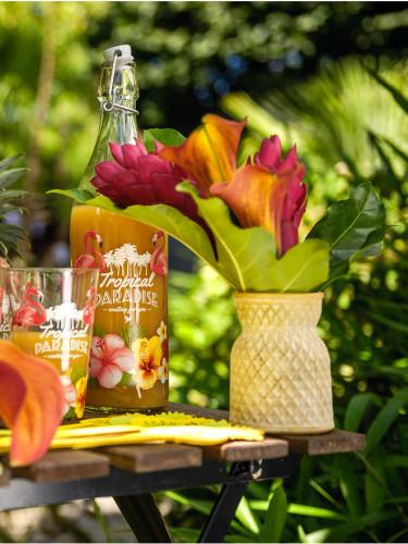 Petit vase jaune mat 10,5 cm-1