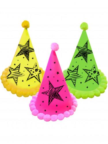 3 Chapeaux de fête Neon Party