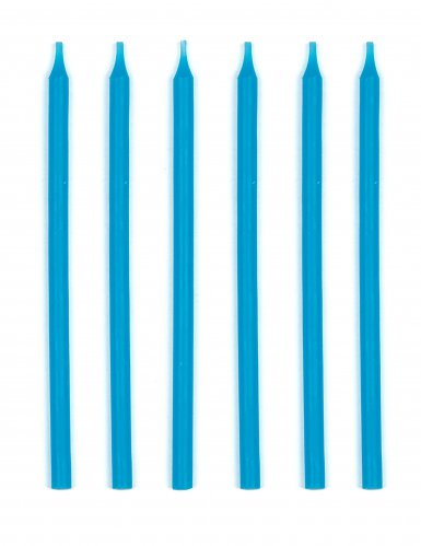 16 Grandes bougies d'anniversaire turquoise 12 cm
