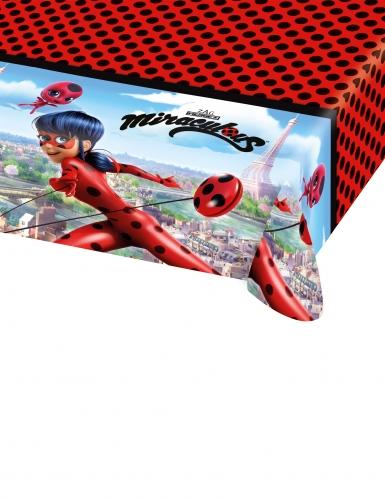 Nappe en plastique Ladybug™ rouge à pois noirs 120 x 180 cm