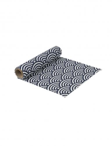 chemin de table en lin cailles bleu marine 28 cm x 5 m d coration anniversaire et f tes. Black Bedroom Furniture Sets. Home Design Ideas