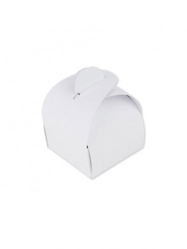 10 Boites en carton arrondies blanches 5 x 7 cm