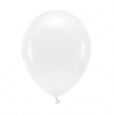 100 Ballons en latex pastel blanc 26 cm