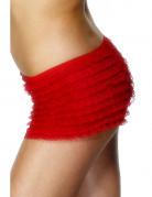 Shorty rouge en dentelle femme