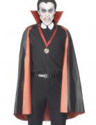 Cape réversible vampire rouge ou noire homme Halloween