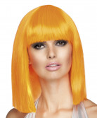 Perruque carré mi-long orange femme