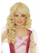 Perruque blonde princesse fille