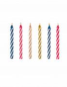 10 Bougies magiques colorées