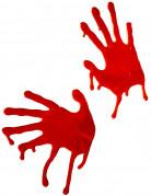 2 Décorations mains ensanglantées Halloween