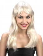 Perruque blonde cheveux longs femme