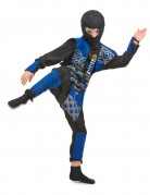 Déguisement ninja bleu garçon